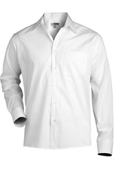 Mens Long Sleeve Dress Shirt - [65% polyester / 35% cotton]